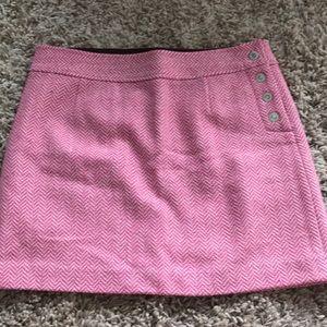 Pink and Cream Wool Skirt